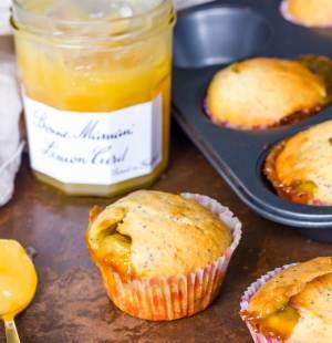 Cupcakes met lemon curd
