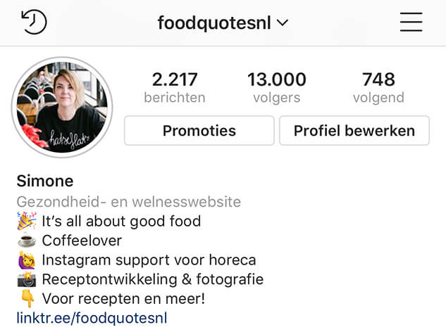 instagram biografie
