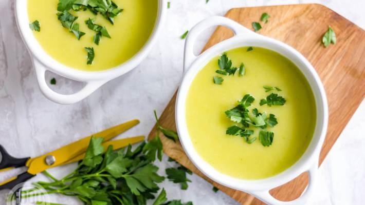 Aardappel-prei soep