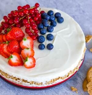 cheesecake met vers fruit