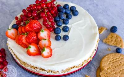 cheesecake met vers fruit
