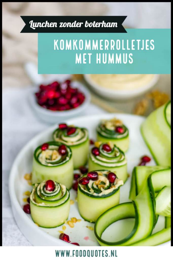 komkommerrolletjes met hummus