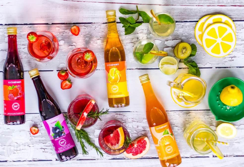 SodaStream flavors; lekkere zomerse drankjes maak je zelf!