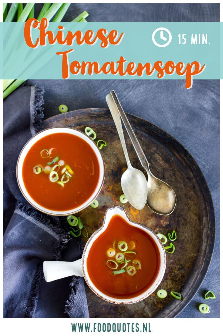 makkelijk Chinese tomatensoep