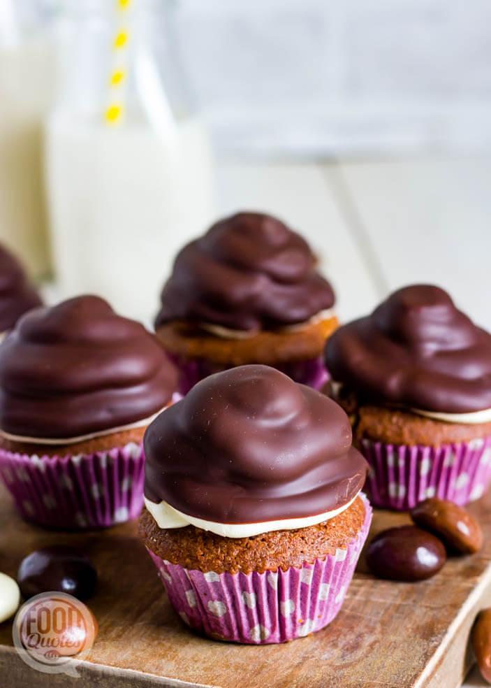 Chocolade kruidnoten cupcakes