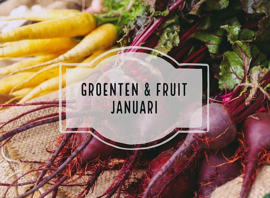 Seizoensgroenten en fruit van januari