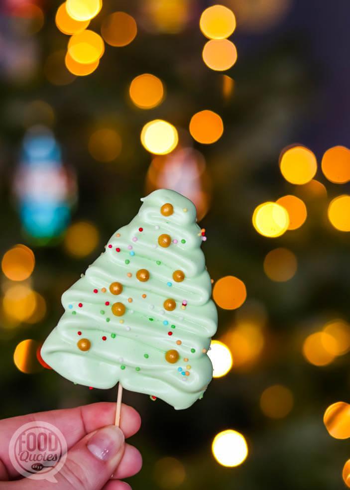 Kerstboom schuimpjes