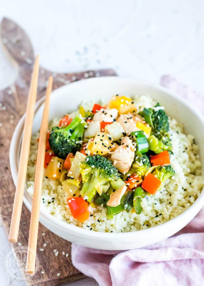 Zoet-zure kip met groenten