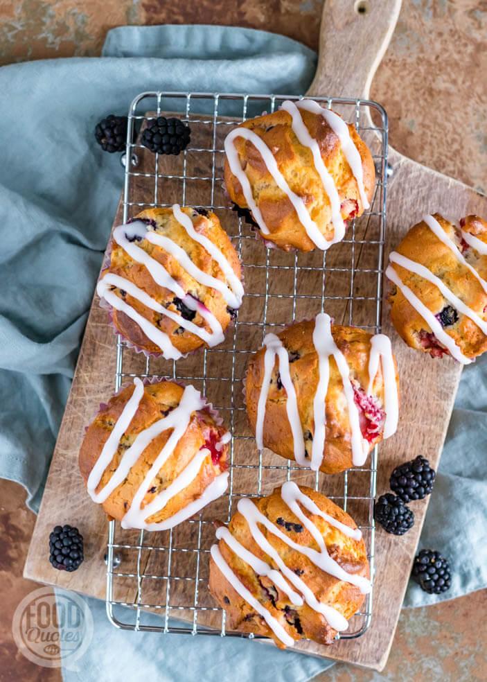 Muffins met bosvruchten