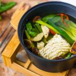 Bouillon fondue groenten en noodles