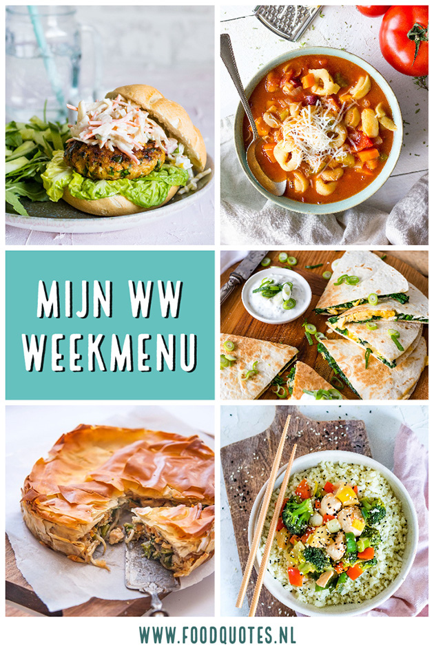 WW weekmenu