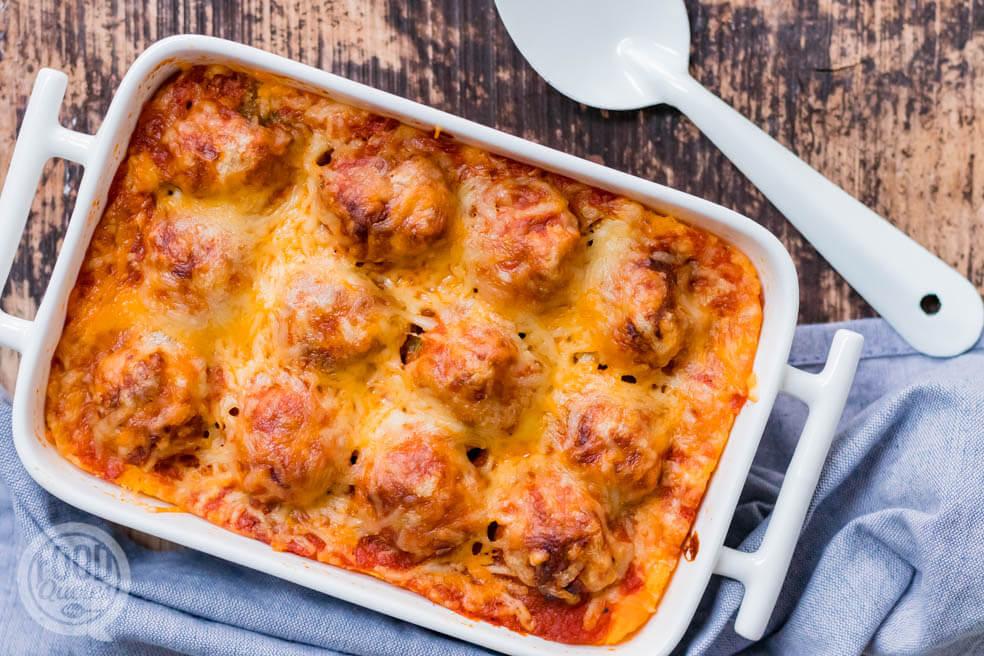 Köfte ovenschotel met aardappelpuree – köfte güveç