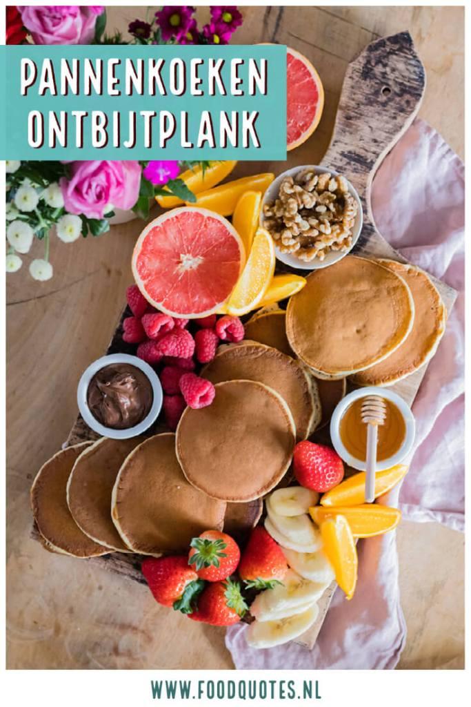 Pannenkoeken ontbijtplank
