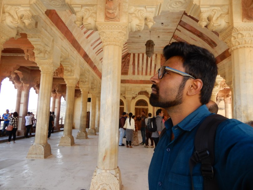 Selfies at Amer Fort
