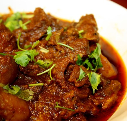 Mutton or chicken curry