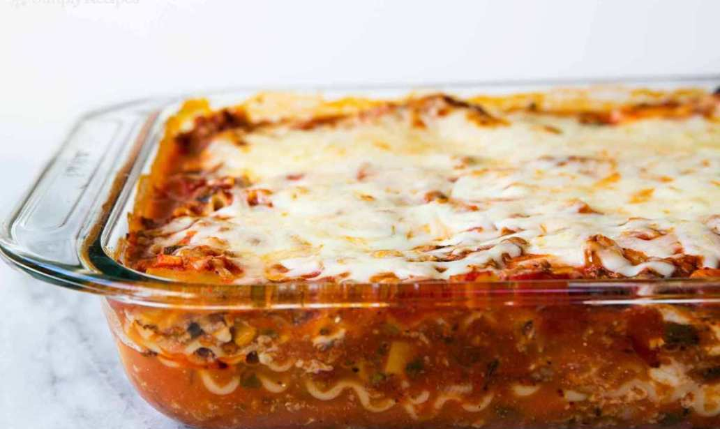One Layer Lasagne recipe food recipes