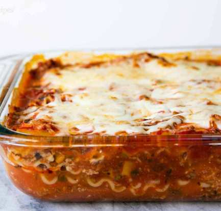 One Layer Lasagne recipe food recipes