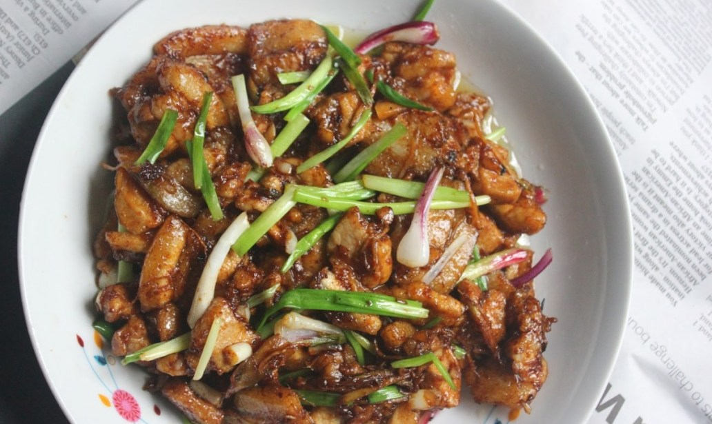 Stir-fried pork with ginger and soy food recipes