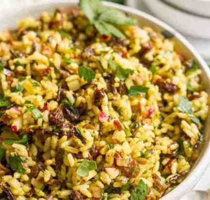 Curried chicken and rice salad food recipes