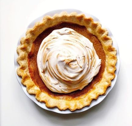 sweet potato meringue pie food recipes