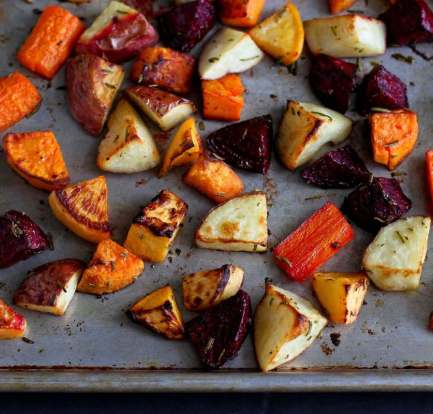 Roasted vegetables with herbs and feta – Recipe 1