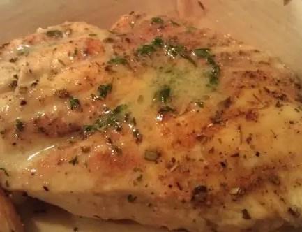Chicken in lemon butter sauce – Recipe 4