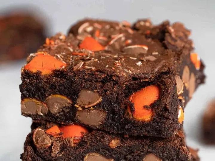 Dark chocolate and orange brownies – Recipe 1
