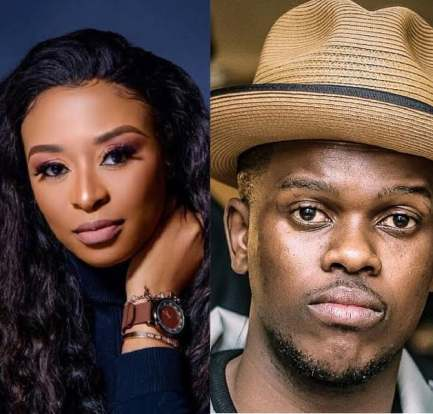 DJ Zinhle's boyfriend Murdah Bongz passes out after falling 3 metres down the stairs 4