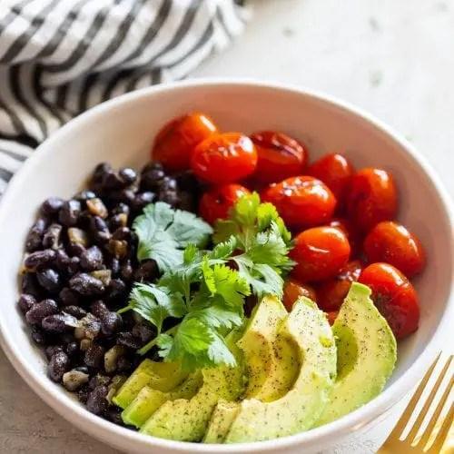 Black bean and avocado salad – Recipe 1