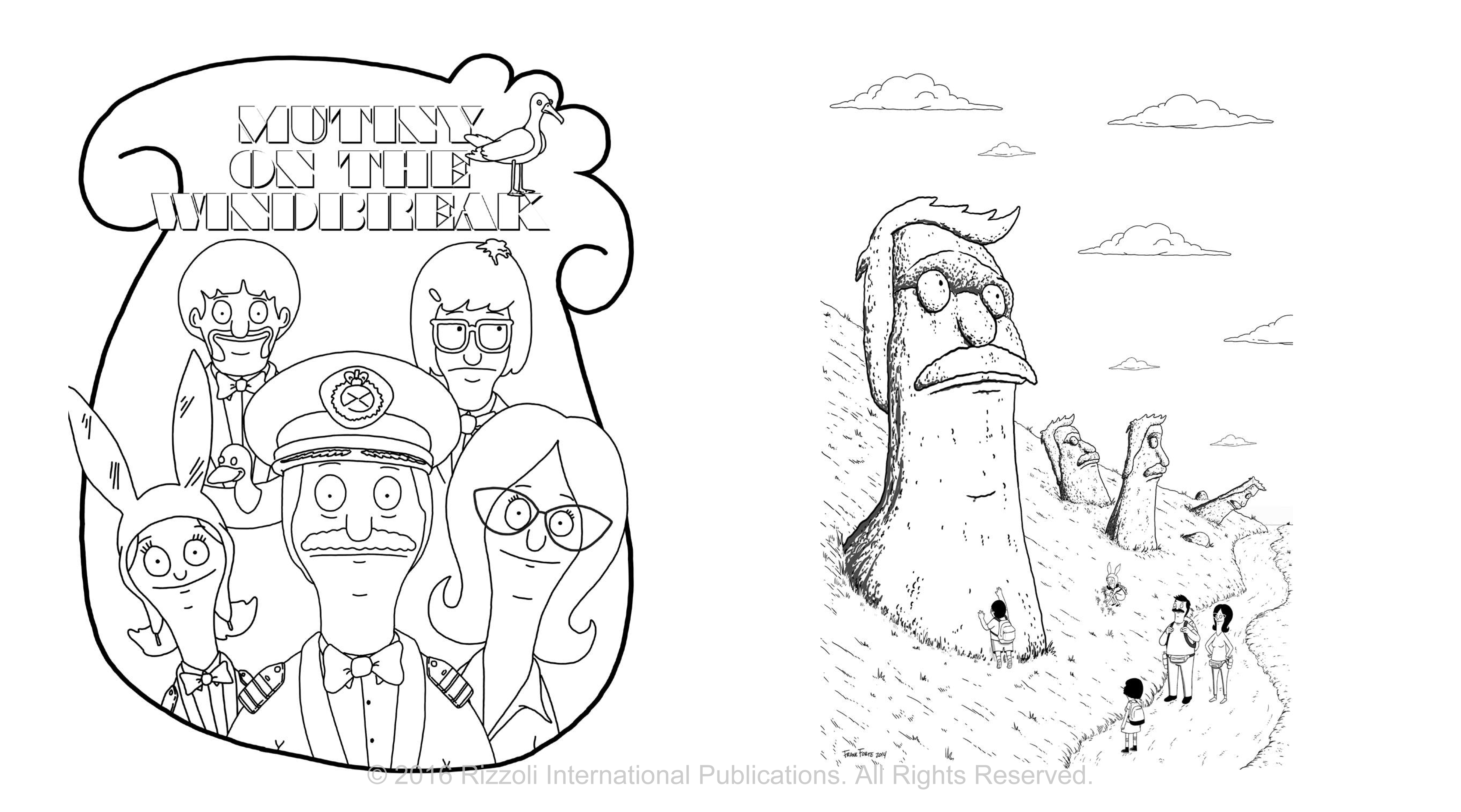 Bobs Burgers Coloring Book Free Coloring Pages Of Bobs Burger