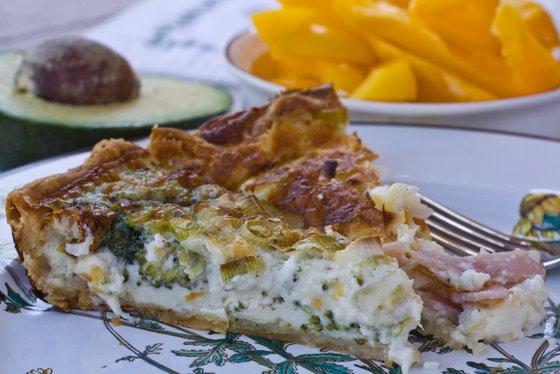 Crab Asparagus Quiche Paula Deen