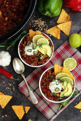 植物性冷凍食品,慢燉鍋素食主義者辣椒