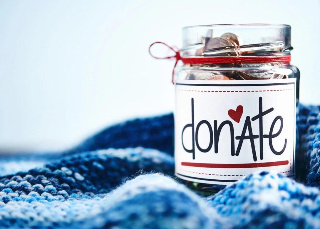 節日禮物的禮物:捐贈罐