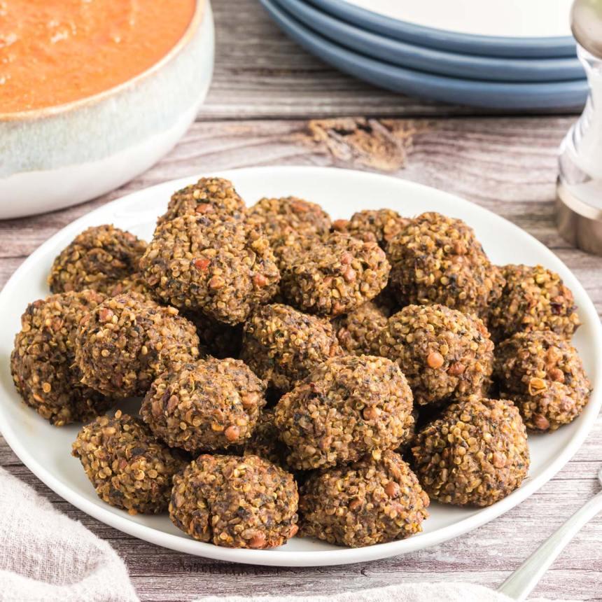 lentil quinoa meatballs