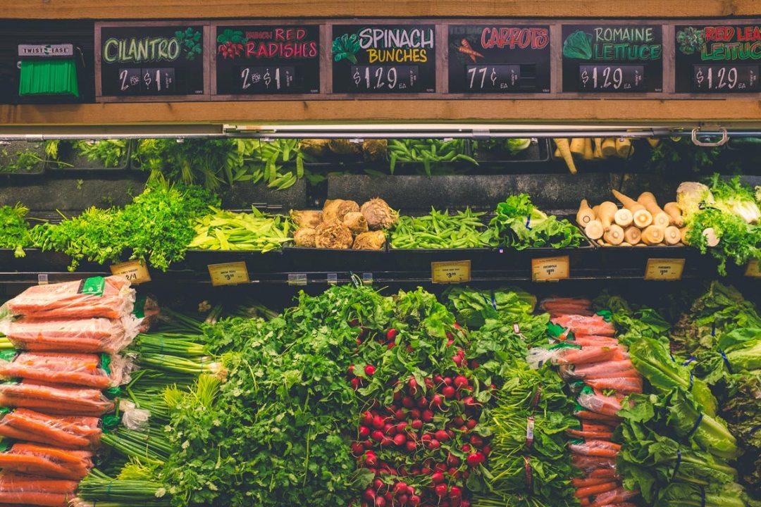 市場上的蔬菜