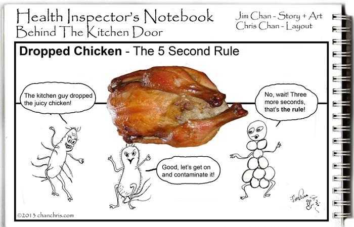 Health Inspector Comics Behind the Kitchen Door  Food
