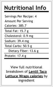lentil nutrition1