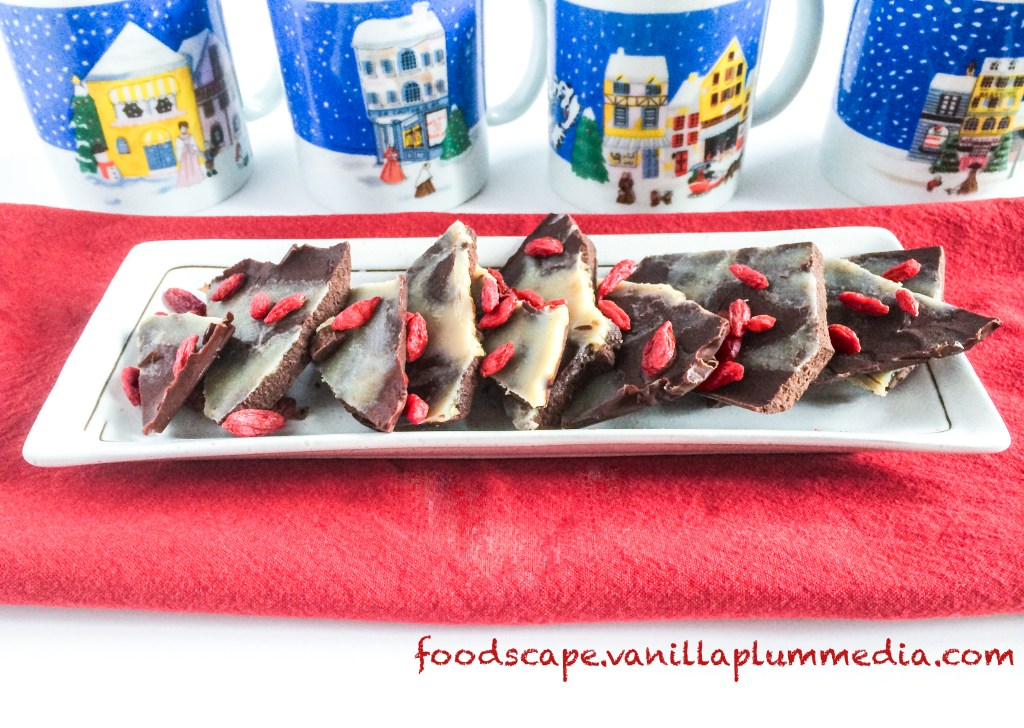 peppermint truffle bark