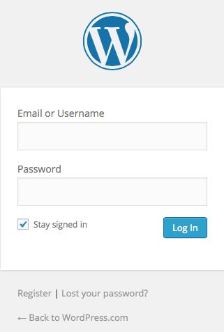 wordpress log in