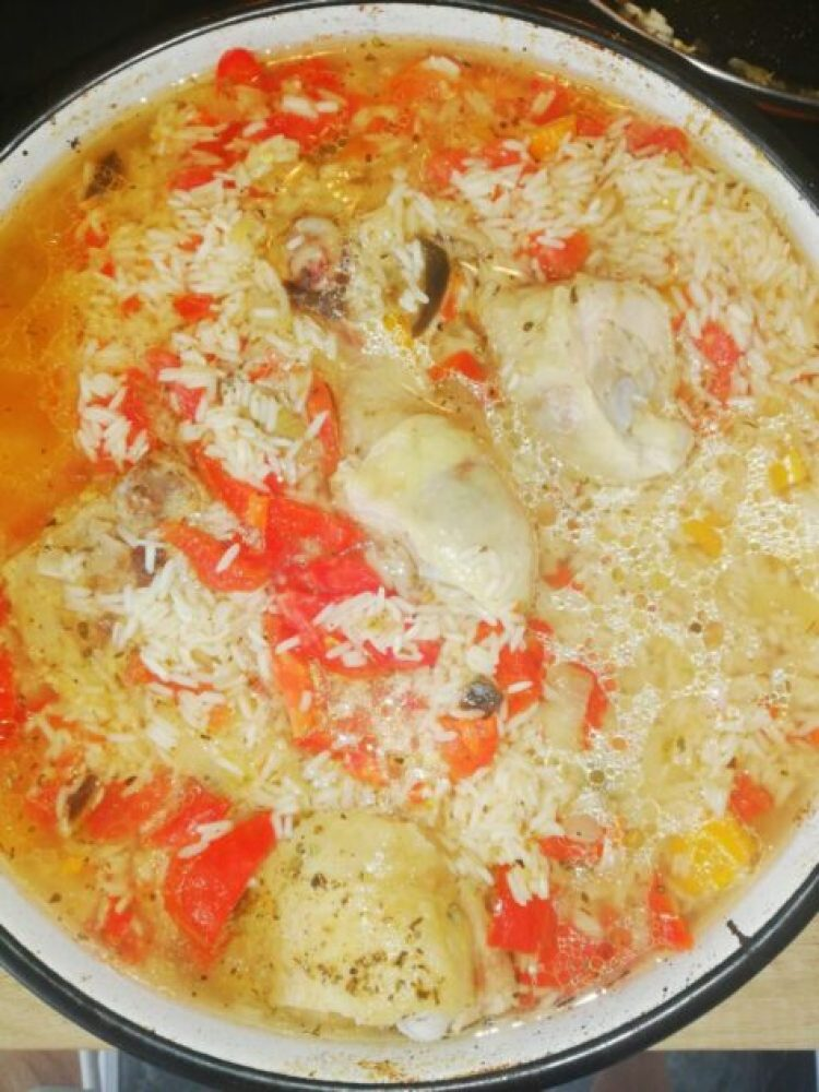 chicken casserole with rice