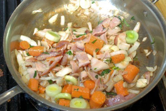 saute-veggies-and-bacon