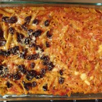 Meatless Monday: Spicy Penne with Two Cheeses and Olives