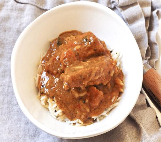 Korma Fish Curry with Basmati Rice