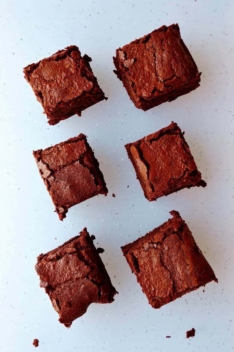 Alton Brown's Plain Ole' Brownies, in Rows