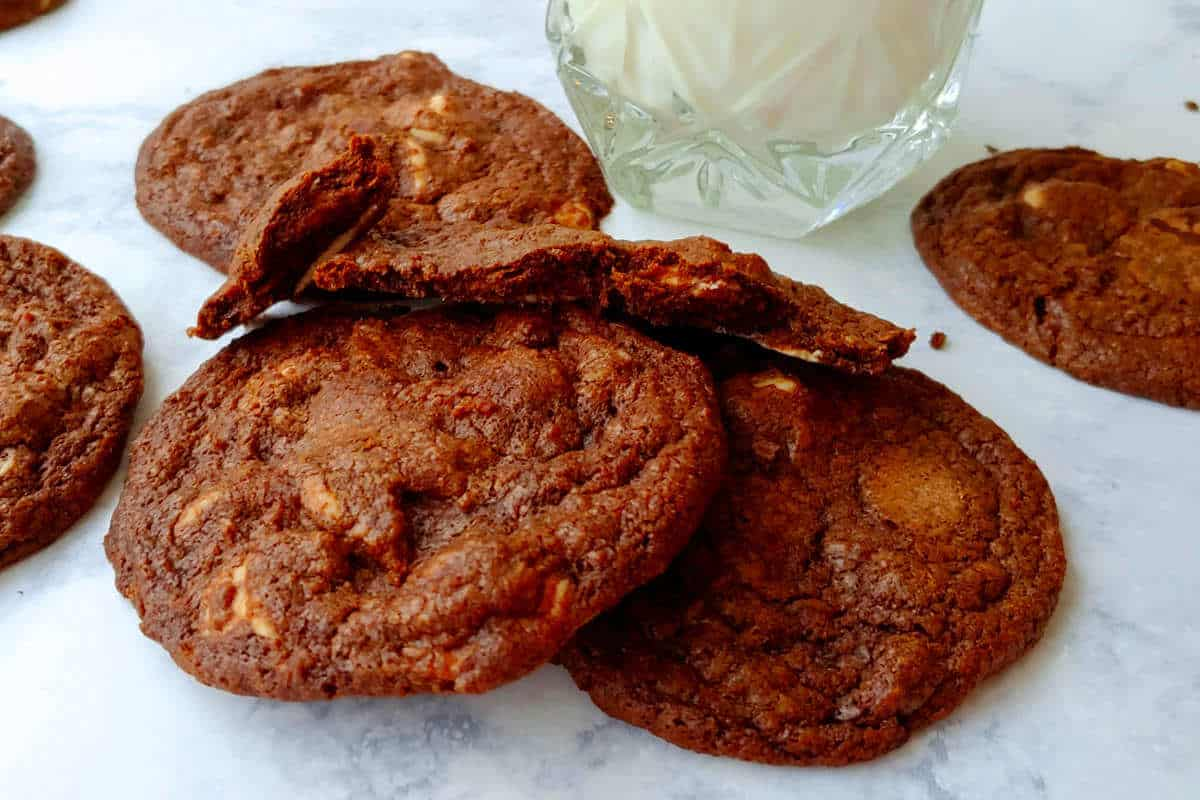 Double Chocolate Caramel Chip Cookies