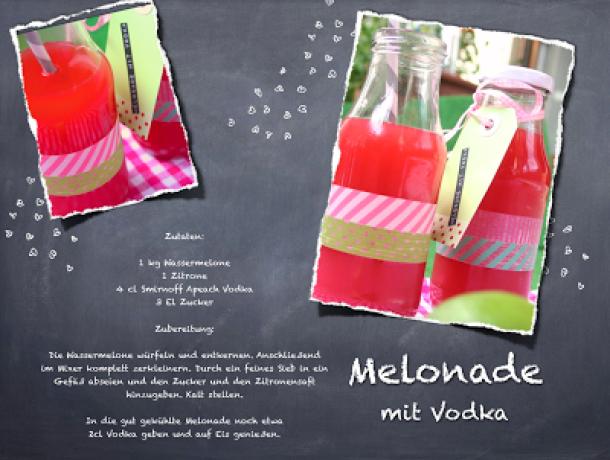 Melonade mit Vodka