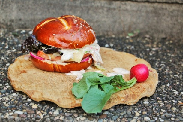 Leberkaese Cheesburger