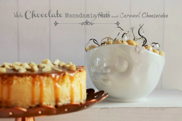 White Chocolate Macadamia Nuts and Caramel Cheescake