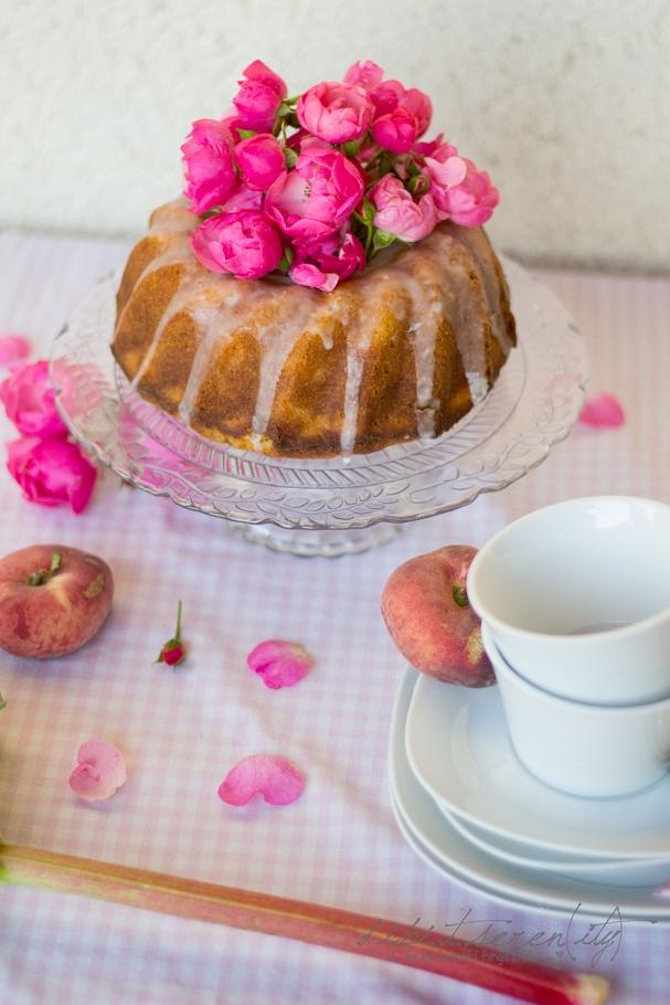 Rhabarber - Pfirsich - Kuchen