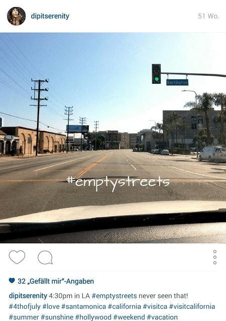 #emptystreets Los Angeles -  dipitserenity Instagram